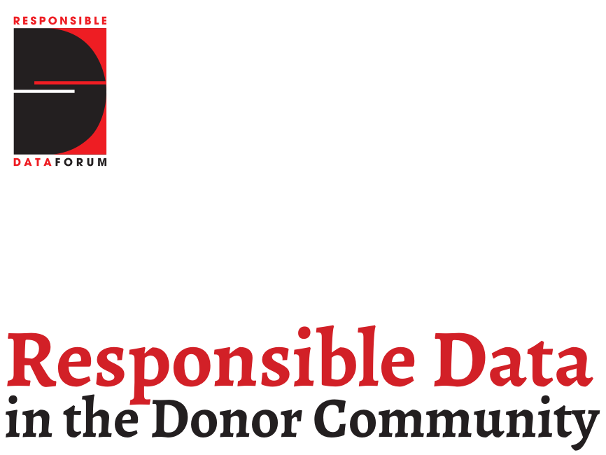 Responsible data in the donor community